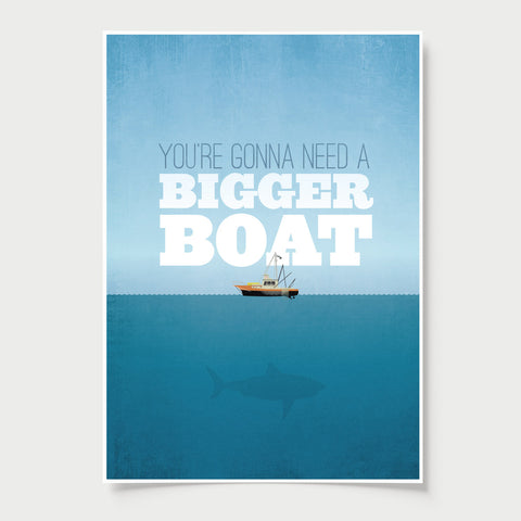 Jaws movie poster - minimal poster design