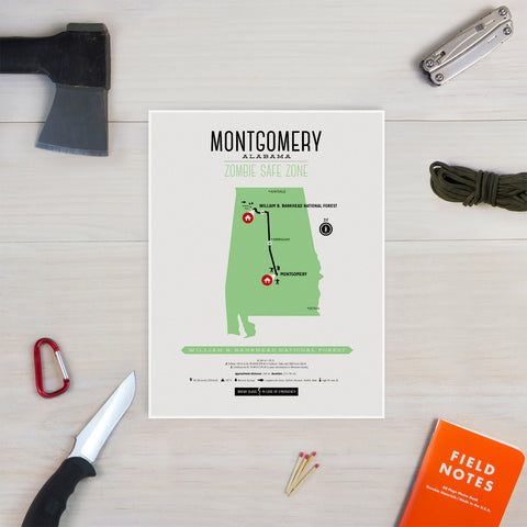 Zombie Safe Zone - Montgomery Map