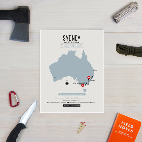 Zombie Safe Zone - Sydney Australia Map