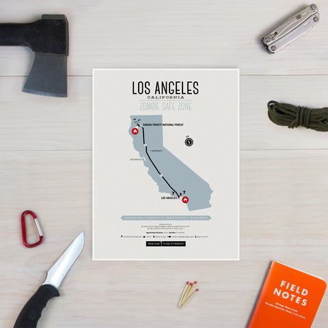 Zombie Safe Zone - Los Angeles Map