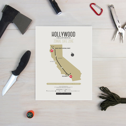 Zombie Safe Zone - Hollywood Map