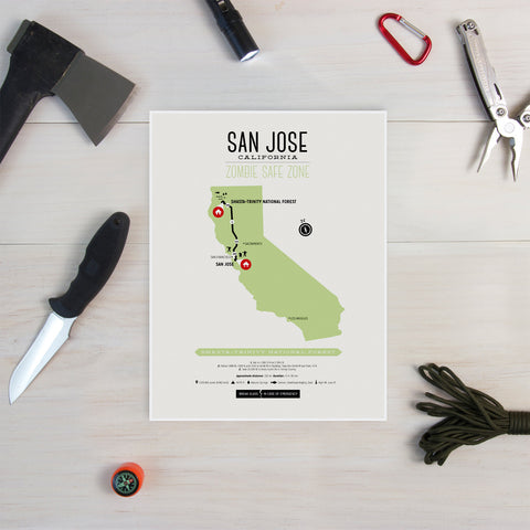 Zombie Safe Zone - San Jose Map