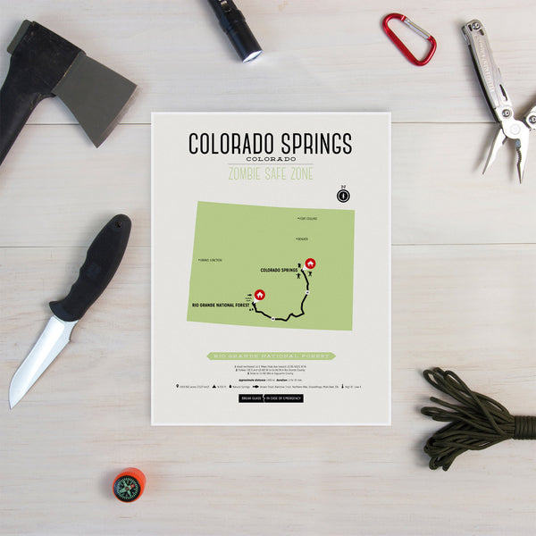 Zombie Safe Zone - Colorado Springs Map
