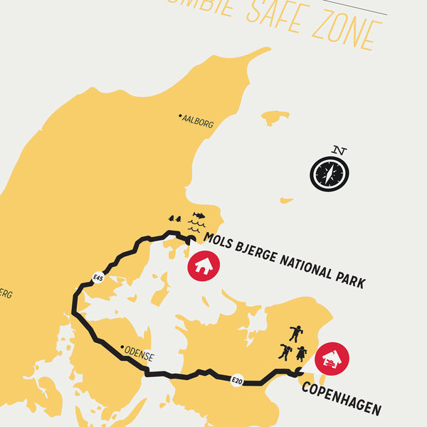 Zombie Safe Zone - Copenhagen Map
