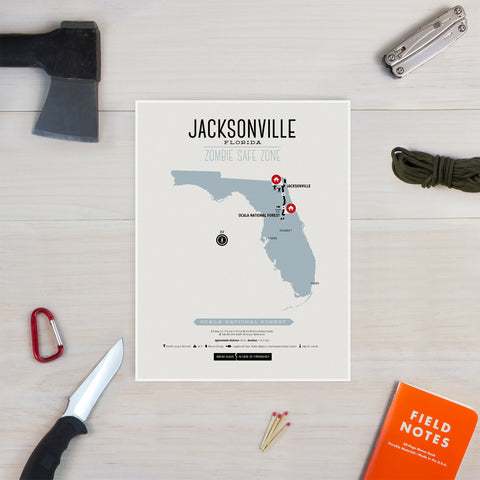Zombie Safe Zone - Jacksonville Map