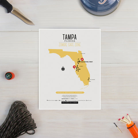 Zombie Safe Zone - Tampa Map