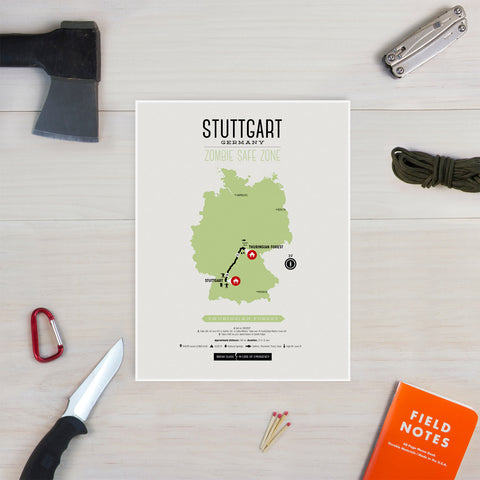 Zombie Safe Zone - Stuttgart Map