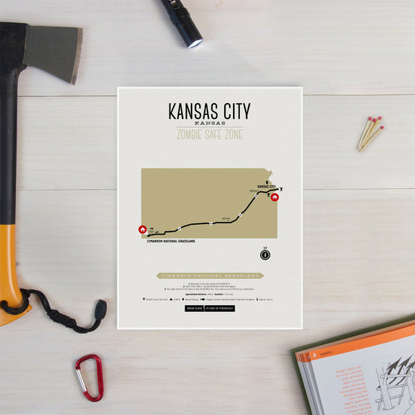Zombie Safe Zone - Kansas City Map
