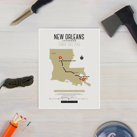 Zombie Safe Zone - New Orleans Map