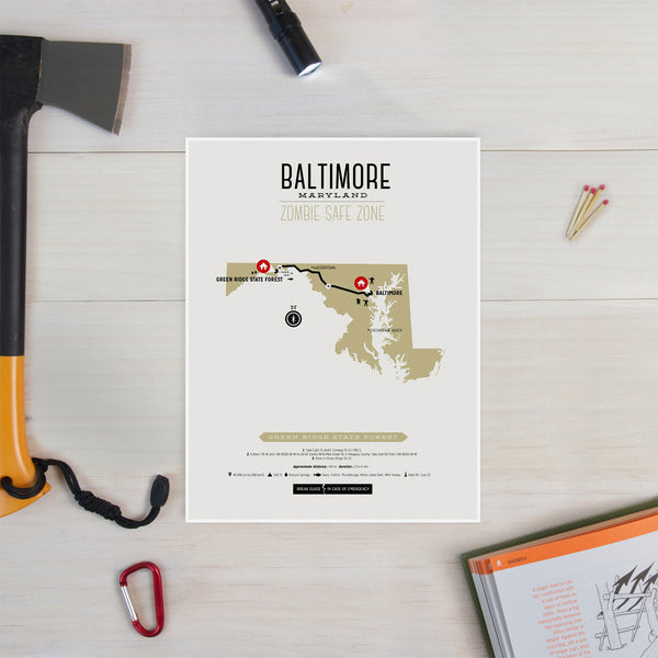 Zombie Safe Zone - Baltimore Map