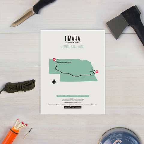 Zombie Safe Zone - Omaha Map