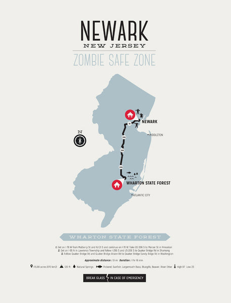 Zombie Safe Zone - Newark Map