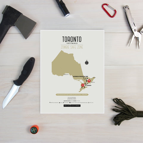 Zombie Safe Zone - Toronto Map