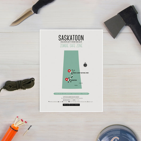 Zombie Safe Zone - Saskatoon Map