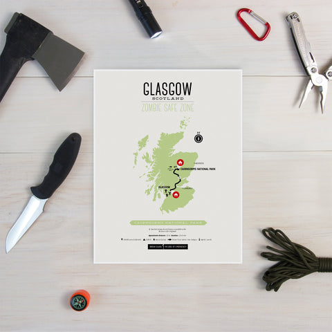 Zombie Safe Zone - Glasgow Map
