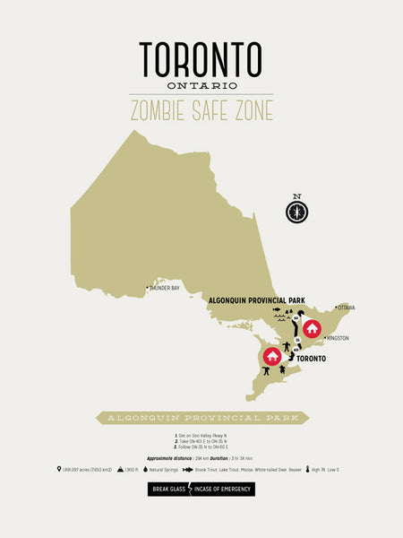 Zombie Safe Zone Toronto Map