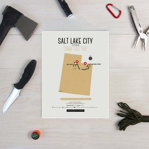 Zombie Safe Zone - Salt Lake City Map