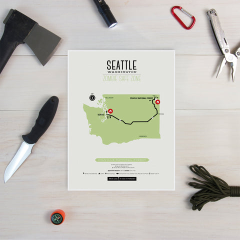 Zombie Safe Zone - Seattle Map