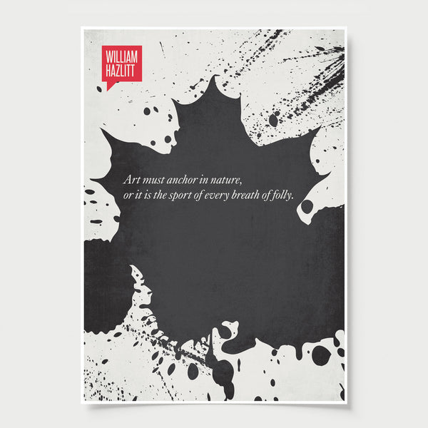 Minimalist Poster Quote William Hazlitt