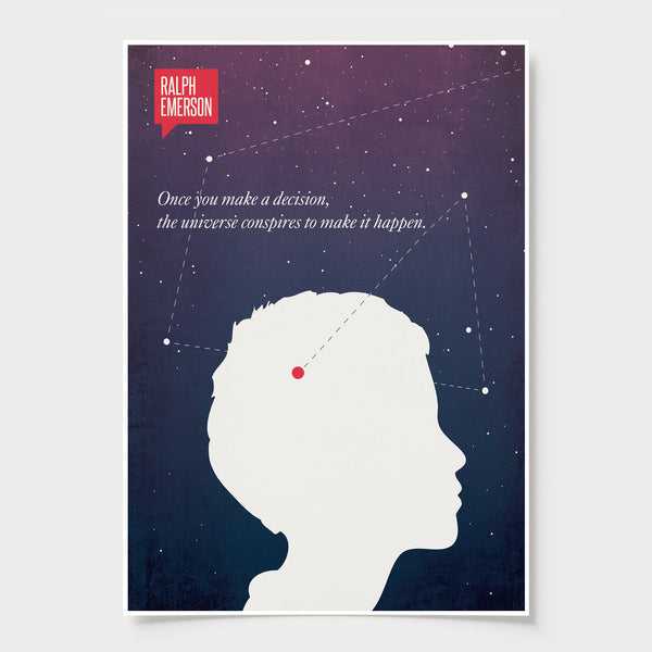 Ralph Waldo Emerson COLOR Minimalist Poster Quote