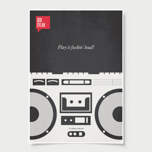 Minimalist Poster Quote Bob Dylan