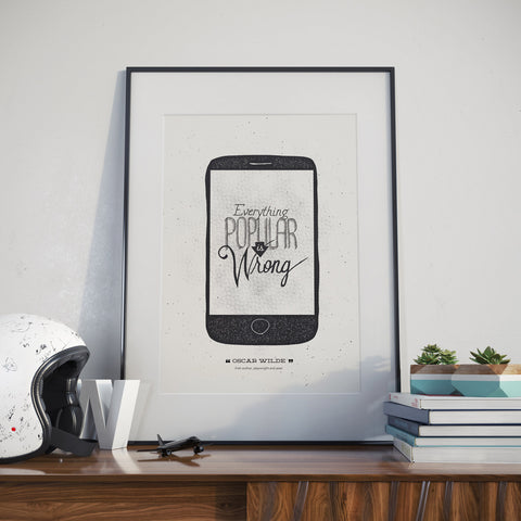 Oscar Wilde Hand Lettered Poster Quote