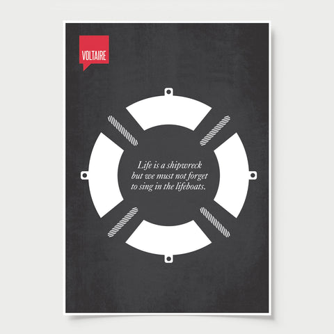 Minimalist Poster Quote Voltaire