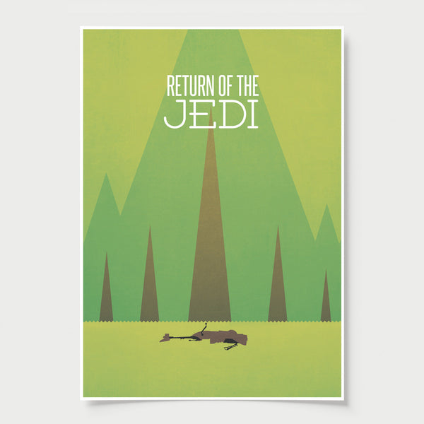Star Wars - Return of the Jedi minimal poster print
