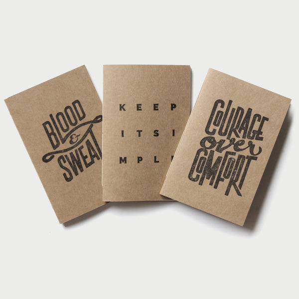 Set of 3 Inspirational Notebooks