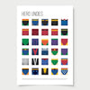 minimal Colourful Superhero Undies poster print