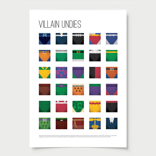 Colourful Superhero & Villain Undies - SAVE
