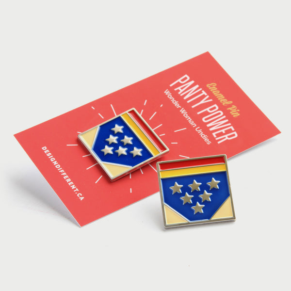 Wonder Woman Undies Enamel Pin