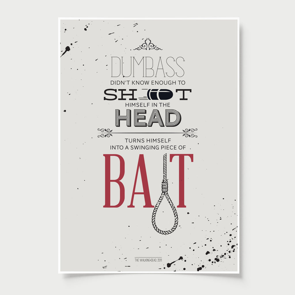 Zombies Poster Quotes The Walking Dead Design Different