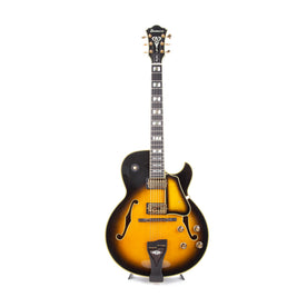 2013 Ibanez LGB300 George Benson Signature Electric Guitar, Vintage Yellow Sunburst, F1309530