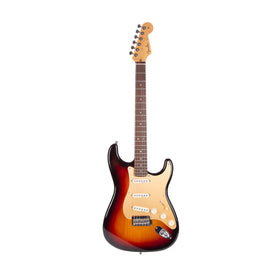 2006 Fender Custom Shop Custom Classic Player V Neck Stratocaster Electric Guitar, 3-Tone Sunburst, CZ517