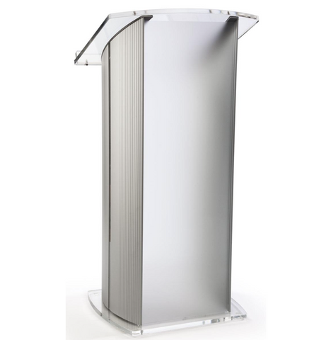 Modern Lectern Made of Contemporary Acrylic & Aluminum