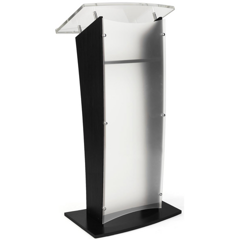 Wood Rostrum Podium With Frosted Front