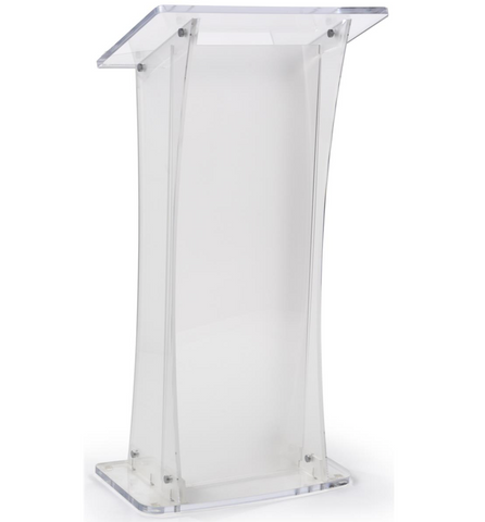 Frosted Acrylic Podium for Floor with Collapsible Design
