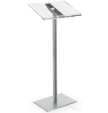 Basic Lectern with Silver Aluminum Post and Base
