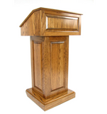 Solid Wood Podium with Adjustable Reading Surface