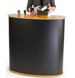 "41"" Tall Oval Portable Counter - Black"