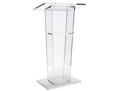 Acrylic Pulpit With Shelf