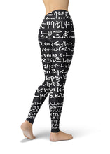 Load image into Gallery viewer, Rosetta Stone on Leggings (Women) - Hand Made to Order - falooka