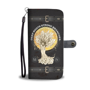 PERSONALIZED Tree of Life Wallet Phone Case - Hand Made to Order - falooka