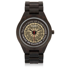 Load image into Gallery viewer, Glossy Brown Zodiac Circle on Watch - Hand Made to Order - falooka