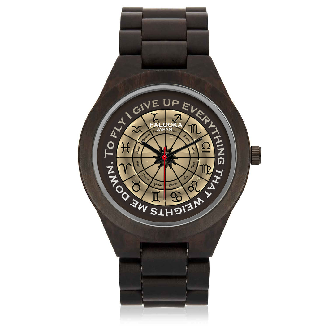 Glossy Brown Zodiac Circle on Watch - Hand Made to Order - falooka