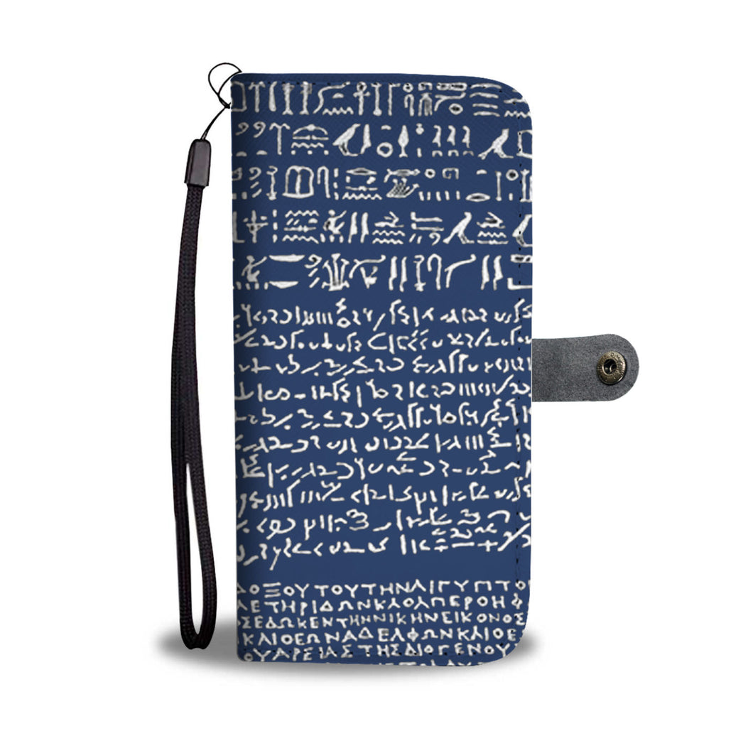 Rosetta Stone on Wallet Phone Case - Hand Made to Order