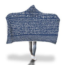 Load image into Gallery viewer, Rare Rosetta Stone Hooded Blanket - Hand Made to Order