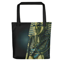 Load image into Gallery viewer, King Tutankhamun on Tote Bag (15X15) - Hand Made to Order - falooka