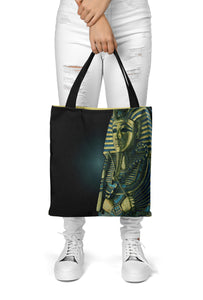 King Tutankhamun on Tote Bag (15X15) - Hand Made to Order - falooka